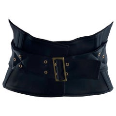 Stunning Gucci by Tom Ford 2003 Black Waist Corset Belt
