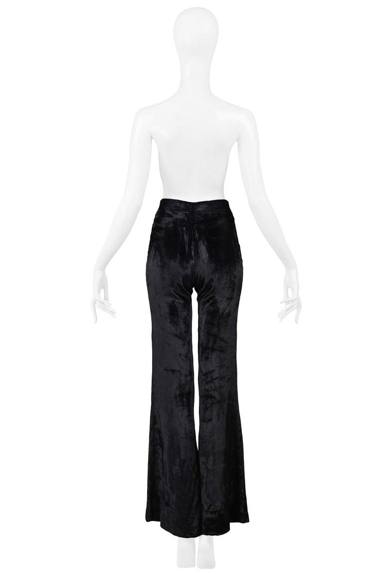 Women's Stunning Gucci by Tom Ford Black Velvet Flare Pants For Sale