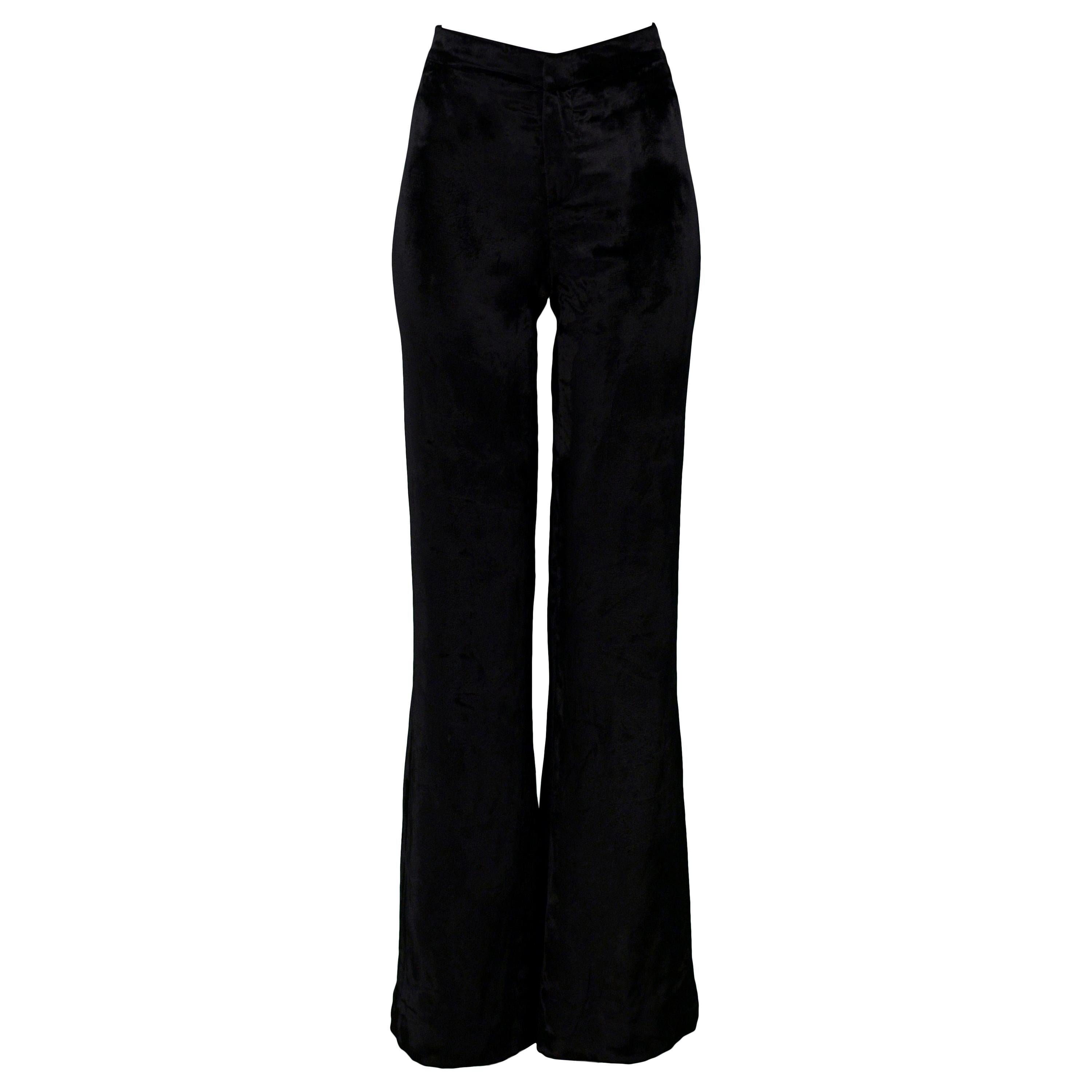 Stunning Gucci by Tom Ford Black Velvet Flare Pants