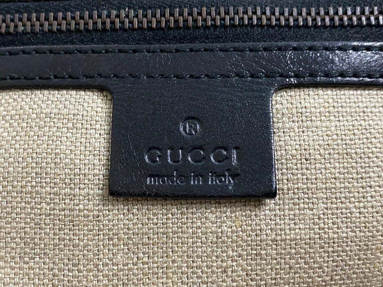 Stunning GUCCI Knitted Leather Macrame Bamboo Handbag Top Handle Bag Tote Studs For Sale 2