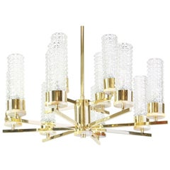 Stunning Hans-Agne Jakobsson Style Brass Chandelier