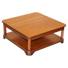 Stunning Harrods London Grange Paris Solid Cherrywood Coffee Table Square
