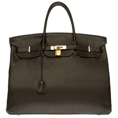 Stunning Hermes Birkin 40cm handbag in Brown Togo leather with gold hardware