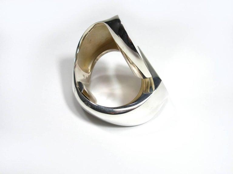 a63e3022804 Stunning Hermès Chaine d Ancre Initiale Cuff Bracelet TGM   Size S  Silver  925