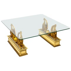 Stunning Hollywood Regency Sphinx Coffee Table, Mid-20th Century