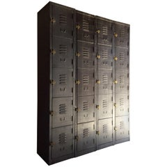 Stunning Industrial Metal Lockers Loft Style Brushed Steel Cabinets 20 Cabinets