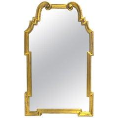 Stunning Italian LaBarge Gold Leaf Wood Frame Mirror in Greek Key Design