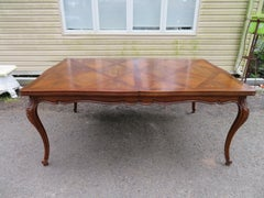 Stunning John Widdicomb Parquet Inlay Country French Provincial Dining Table
