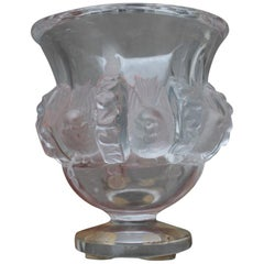 Stunning Lalique Crystal Dampierre Bird Vase Designed in 1948 by Marc Lalique