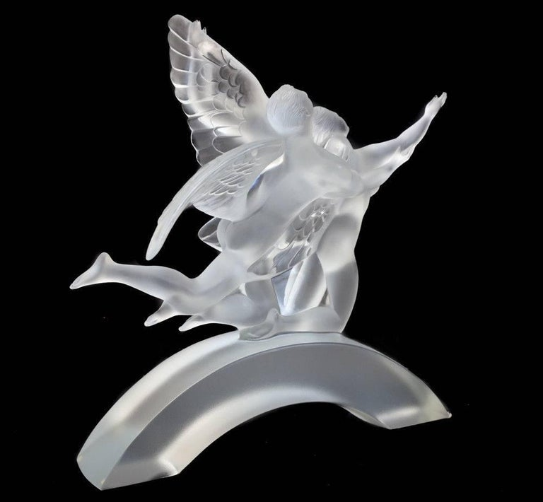 Lalique France Crystal The Dancers Figurine For Sale at