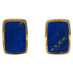 Stunning Lapiz Lazulite 18 Karat Cufflinks