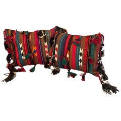 Stunning Large Gypsy Turkish Arabic Oriental Salt or Camel Bag Embroidery Pillow