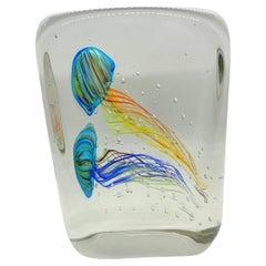 Stunning Large Two Jelly Fish Murano Italian Art Glass Aquarium
