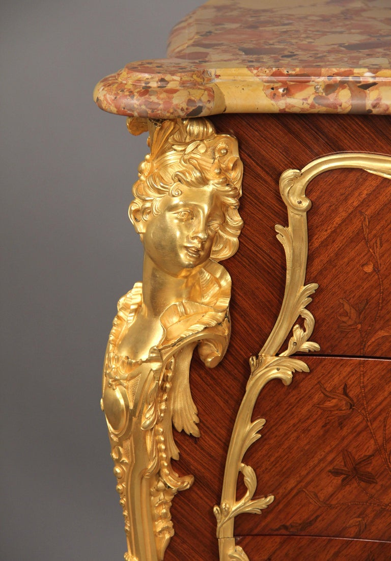 Belle Époque Stunning Late 19th Century Gilt Bronze Mounted Marquetry Cabinet -François Linke For Sale
