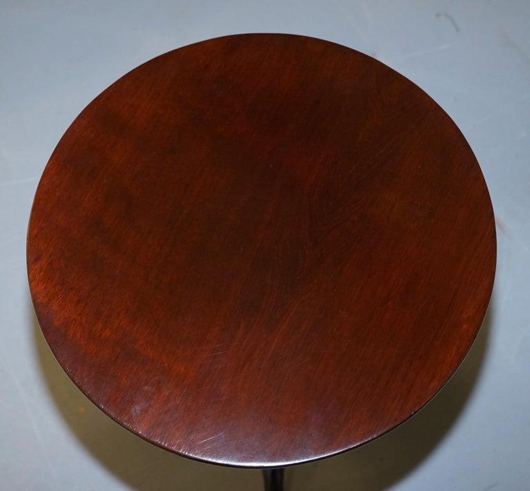 Stunning Late Georgian / Early Victorian Mahogany Tripod Table Solid Mahogany For Sale 1
