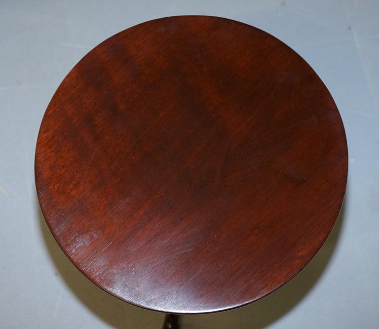 Stunning Late Georgian / Early Victorian Mahogany Tripod Table Solid Mahogany For Sale 2