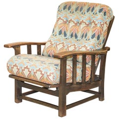 Stunning Liberty's London Ianthe Upholstered Arts & Crafts Reclining Armchair