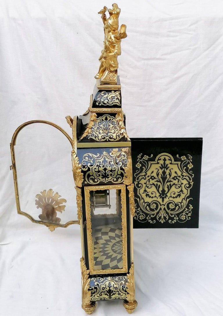 Stunning Louis XIV Boulle Gilt Bronze Table Clock, France, 19th Century 1