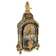 Stunning Louis XIV Boulle Gilt Bronze Table Clock, France, 19th Century
