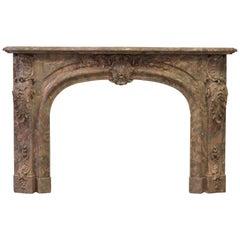 Stunning Louis XV Rococo Style Fireplace Mantel