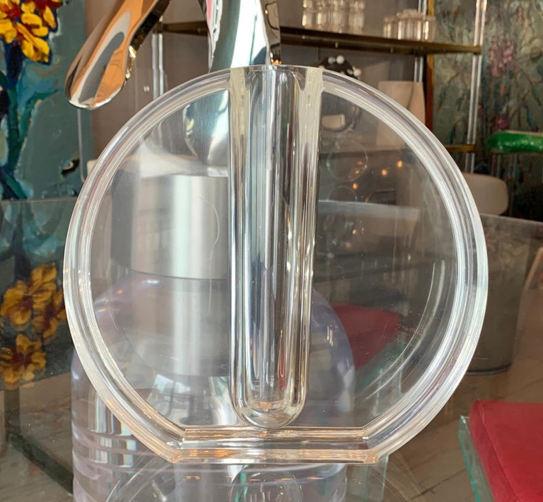 Mid Century Modern Charles Hollis Jones Lucite Small: Stunning Lucite Vase By Charles Hollis Jones For Sale At