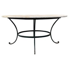 Stunning Marble Top Iron Framed Table for 6, France, 1900