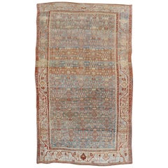 Stunning Masculine Accent Size Persian Bidjar Rug, 20th Century