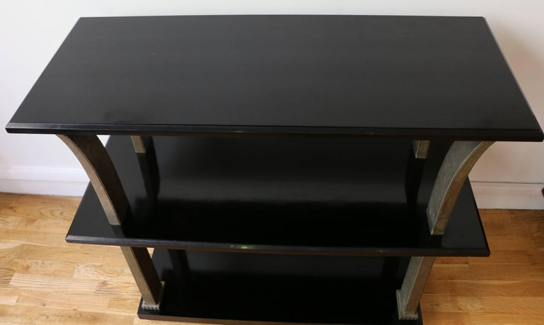 Stunning Metal and Wood Console by Edgar Brandt, Art Deco, France, 1920s For Sale 4
