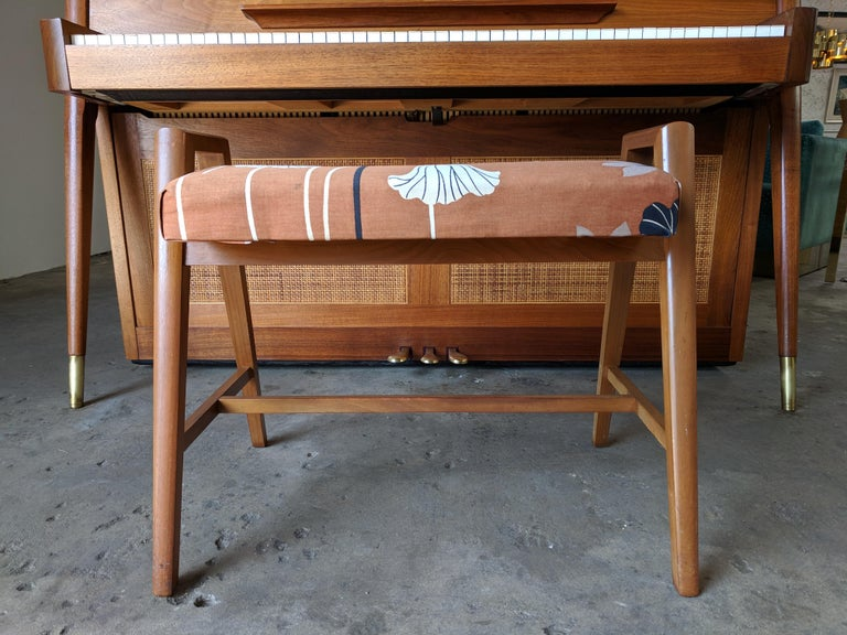 Stunning Midcentury Baldwin Acrosonic Spinet Piano with Matching Bench For Sale 8