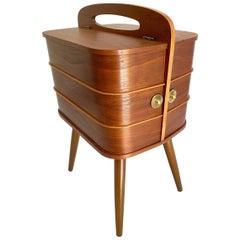 Danish Modern Storage Box with Drawers, Teak Plywood, 1960s,   Mid Century