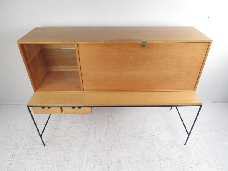 Mid-Century Modern Stunning Midcentury Paul McCobb Planner Group Two-Piece Desk For Sale