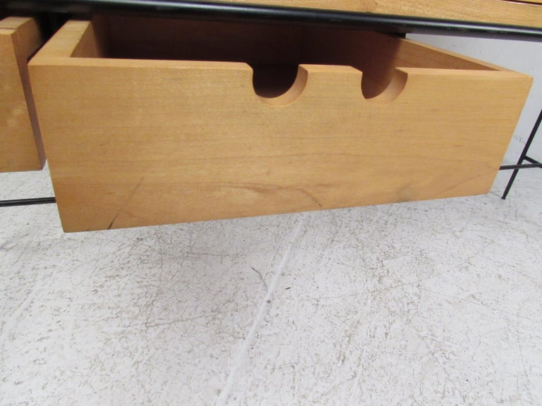 Late 20th Century Stunning Midcentury Paul McCobb Planner Group Two-Piece Desk For Sale
