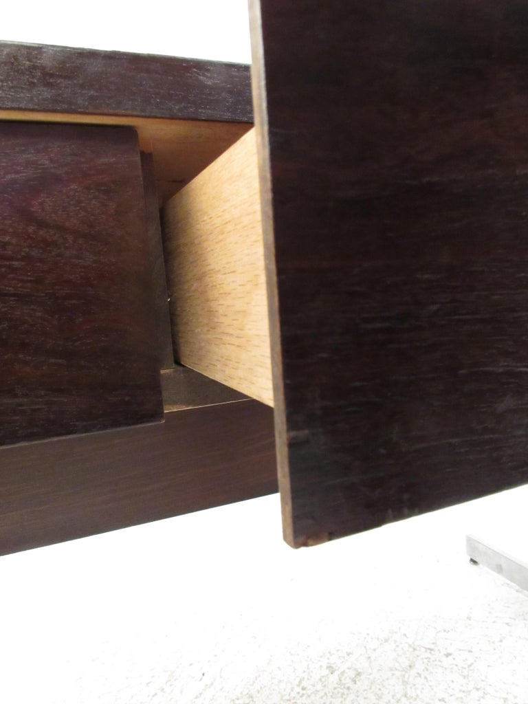 Stunning Midcentury Rosewood Lane Compartment Desk For Sale 8