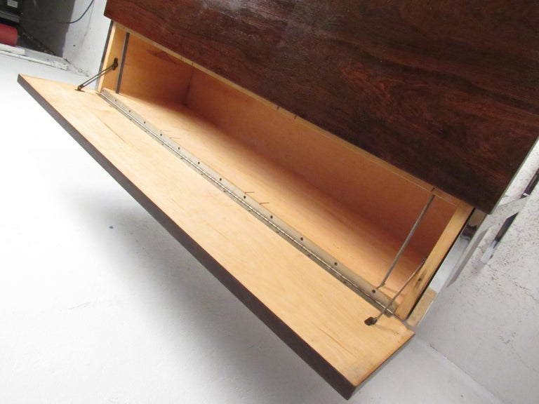 Stunning Midcentury Rosewood Lane Compartment Desk For Sale 2