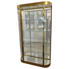 Stunning Midcentury French Brass Display Cabinet