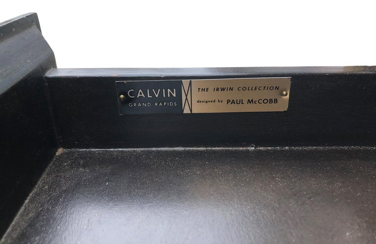 Stunning Midcentury Paul McCobb Calvin Irwin Brass Room Divider Shelf Wall Unit For Sale 3