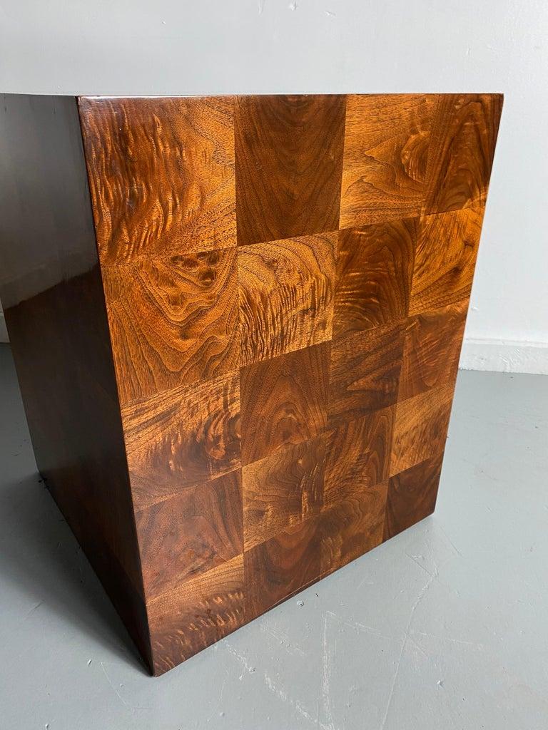 Mid-Century Modern Stunning Milo Baughman Patch Work Cube Table / Pedestal For Sale
