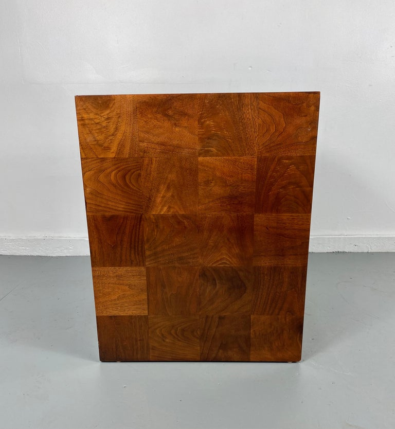 Lacquered Stunning Milo Baughman Patch Work Cube Table / Pedestal For Sale