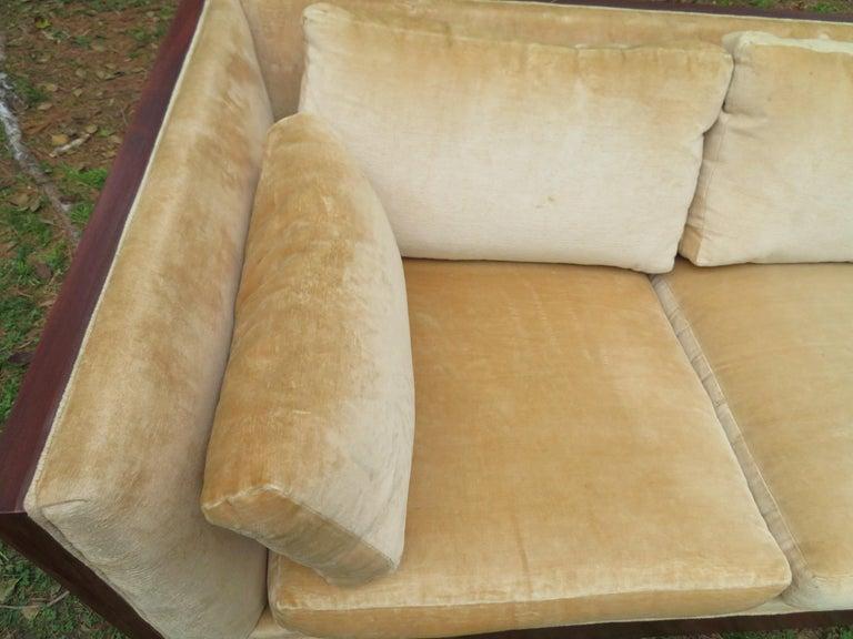 Stunning Milo Baughman Rosewood Case Sofa Mid-Century Modern For Sale 4