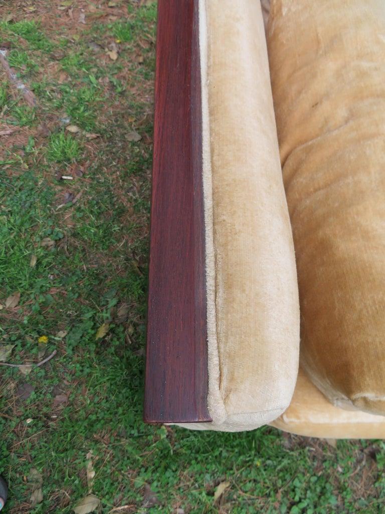 Stunning Milo Baughman Rosewood Case Sofa Mid-Century Modern For Sale 5