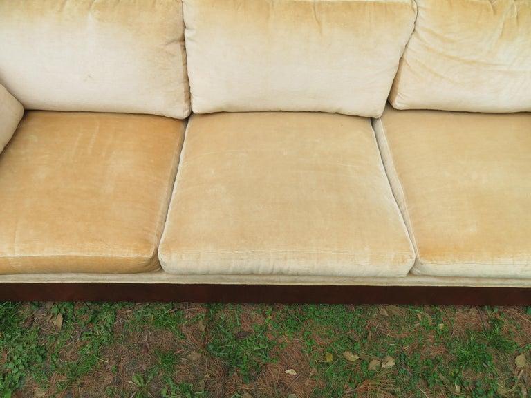 Stunning Milo Baughman Rosewood Case Sofa Mid-Century Modern For Sale 7