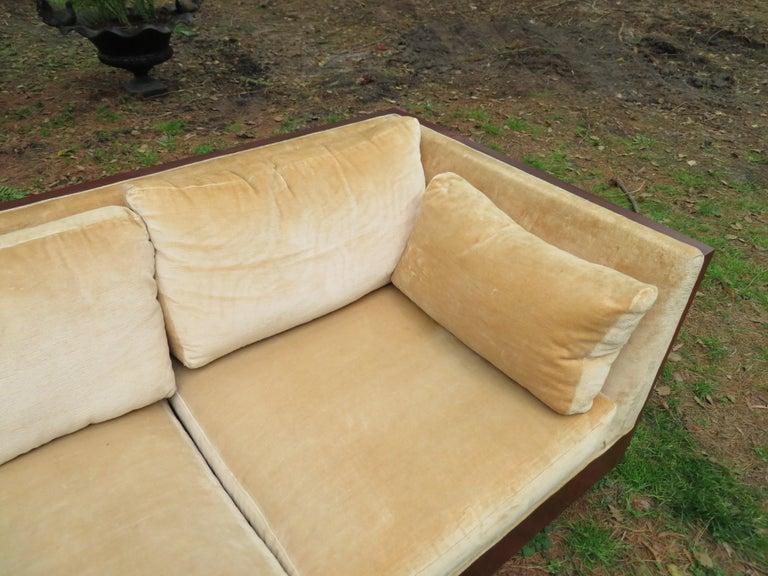 Stunning Milo Baughman Rosewood Case Sofa Mid-Century Modern For Sale 8