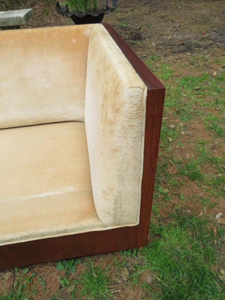 Stunning Milo Baughman Rosewood Case Sofa Mid-Century Modern For Sale 9