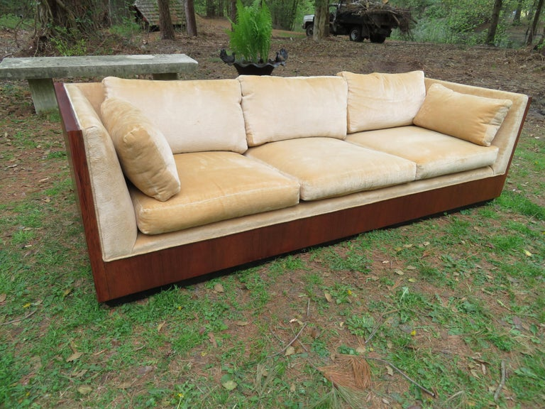 Stunning Milo Baughman Rosewood Case Sofa Mid-Century Modern For Sale 10