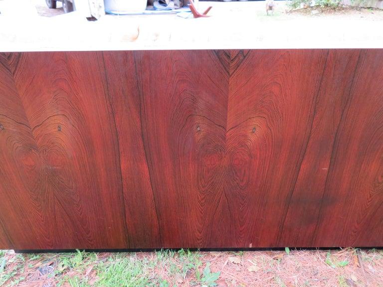 Mid-20th Century Stunning Milo Baughman Rosewood Case Sofa Mid-Century Modern For Sale