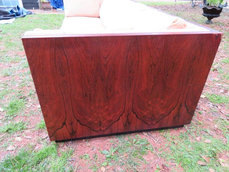 Stunning Milo Baughman Rosewood Case Sofa Mid-Century Modern For Sale 1