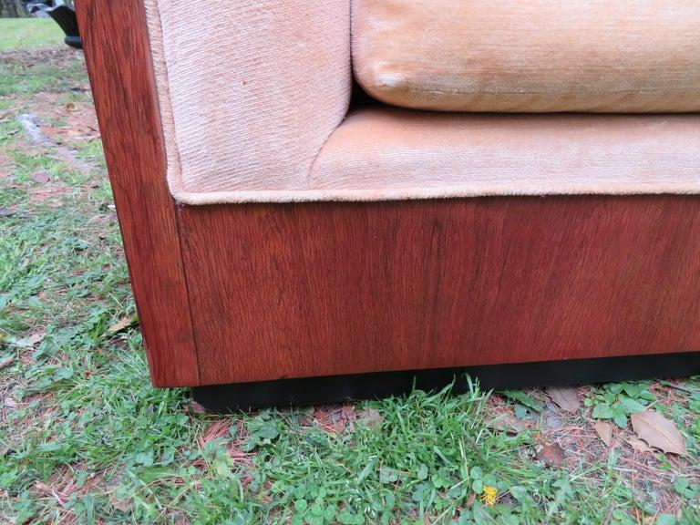Stunning Milo Baughman Rosewood Case Sofa Mid-Century Modern For Sale 2