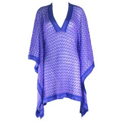Stunning Missoni Crochet Knit Kaftan Tunic Cover Up Caftan Dress