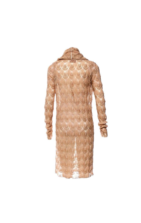 UNIQUE & LUXURIOUS  MISSONI ORANGE LABEL METALLIC GOLD LUREX DRESS  A CLASSIC MISSONI SIGNATURE PIECE THAT WILL LAST YOU FOR YEARS  DETAILS:      Beautiful gold lurex MISSONI dress  From MISSONI main line     Classic MISSONI signature knit