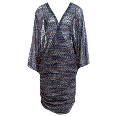 Stunning Missoni Lurex Kaftan Tunic Cover Up Mini Dress